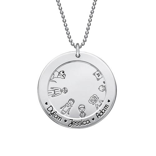 Familjehalsband i Sterling silver