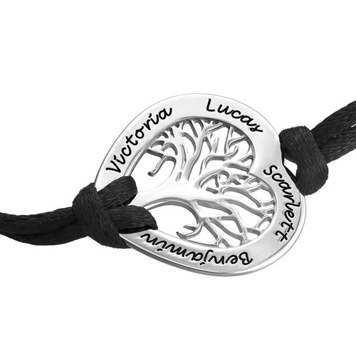 Familjeträdsarmband i sterling silver - 1