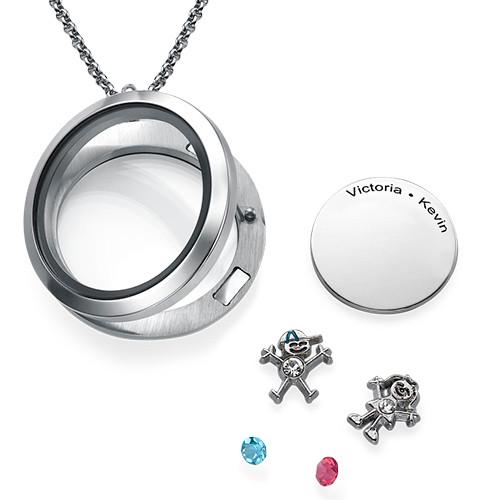 Flytande Berlock Halsbandet för Mammor med Barn Berlocker - 1