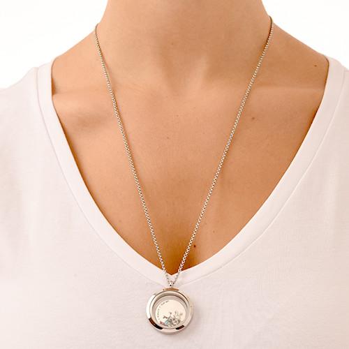 Flytande Berlock Halsbandet för Mammor med Barn Berlocker - 4