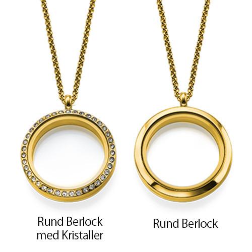 Flytande Berlock Halsbandet för Mammor med Barn Berlocker i 18k Guldplätering - 3