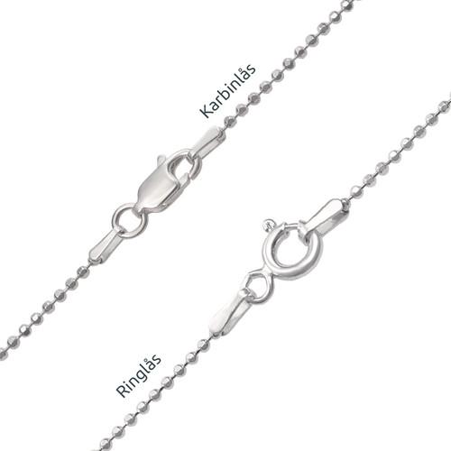 Graverat Cirkel Halsband i Silver - 2
