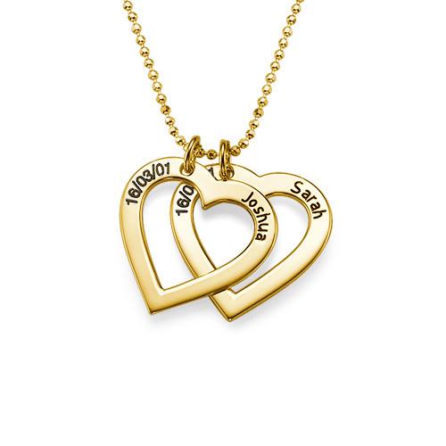 18k Guldpläterat Hjärta med Ingravering - 1