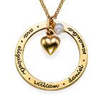Guldpläterat smycke till mor