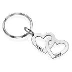 Hjärta i hjärta - nyckelring i Sterling silver