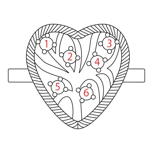 Hjärtformad Guldpläterad Ring med Swarovskistenar - 4