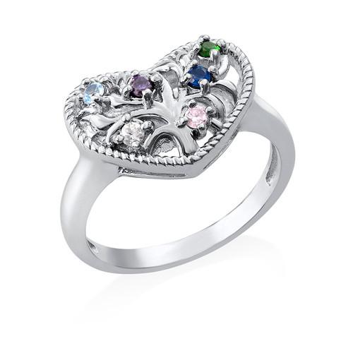 Hjärtformad Ring med Swarovskistenar