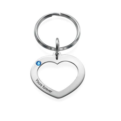 Hjärtnyckelring för par - 1