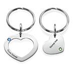 Hjärtnyckelring för par