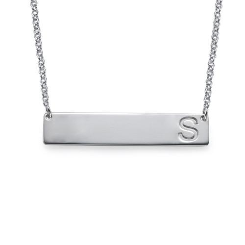 Horisontellt Bricka Halsband med Initial