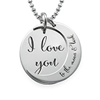 I love you to the moon and back - halsband