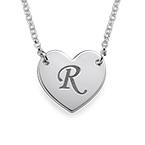 Initial Hjärt Halsband med bokstav