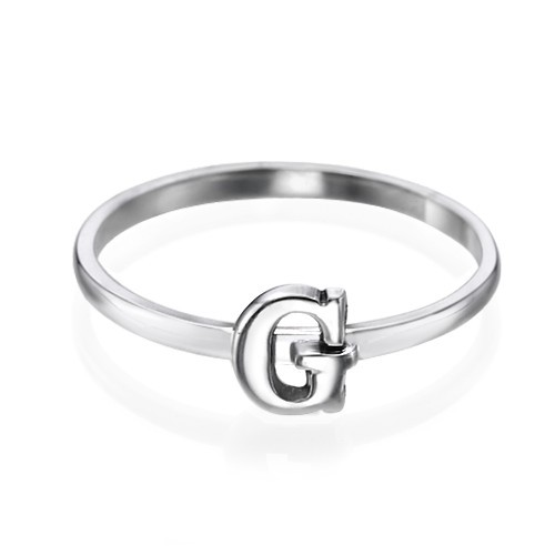 Initial Ring i Sterling Silver - 1