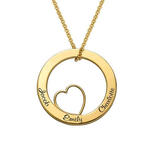 Kärlekcirkel halsband i 18k guldplätering - 1