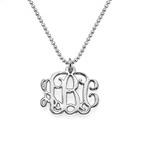 Litet Sterling Silver Monogram Halsband