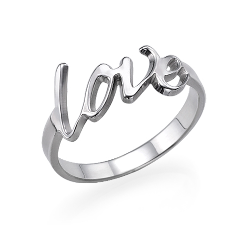 Love Ring i Sterling Silver