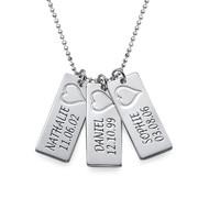 Namn Brick Halsband i Silver