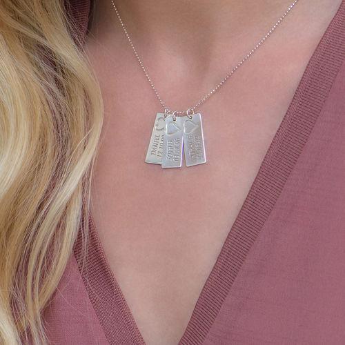 Namn Brick Halsband i Silver - 3