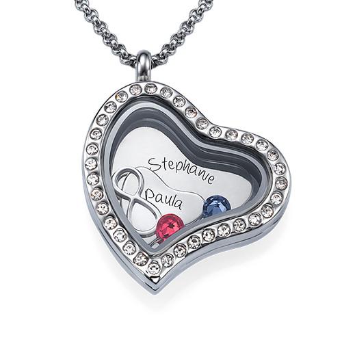 Oändlig Kärlek Flytande Berlock Halsband - 1