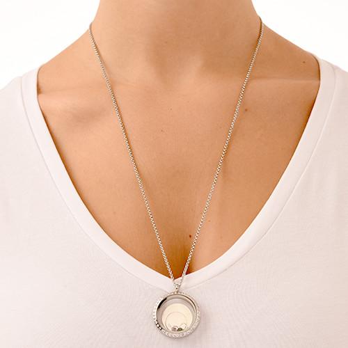 Oändlig Kärlek Flytande Berlock Halsband - 5