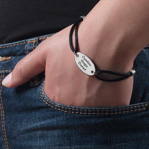 Ovalt graverat id armband med gravyr - 3