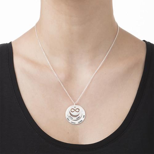 Personifierat Familje halsband med infinity symbol - 2