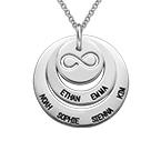 Personifierat Familje halsband med infinity symbol