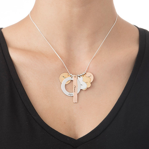 Personlig Moders Halsband med blandade metaller - 1