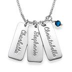Personlig Namnbricks-Halsband med Månadsstenar