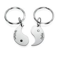 18k Personlig Yin Yang Nyckelring för par