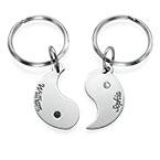 Personlig Yin Yang Nyckelring för par