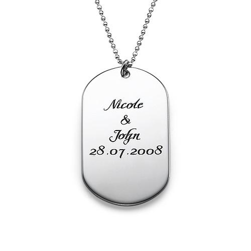 Personligt ID-bricks Halsband i Silver