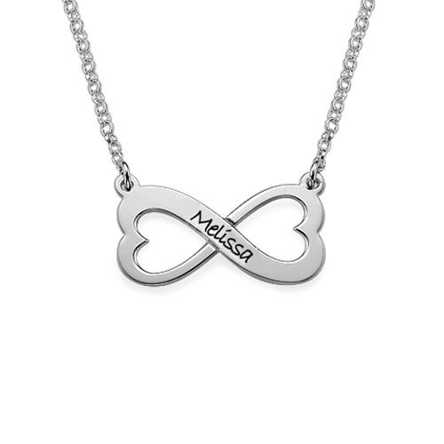 Personligt Infinity Hjärt Halsband
