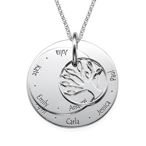 Personligt Mors smycke -  Familjeträd halsband - 1