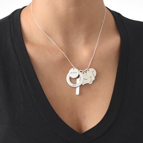 Personligt multi berlock halsband för mödrar - 1