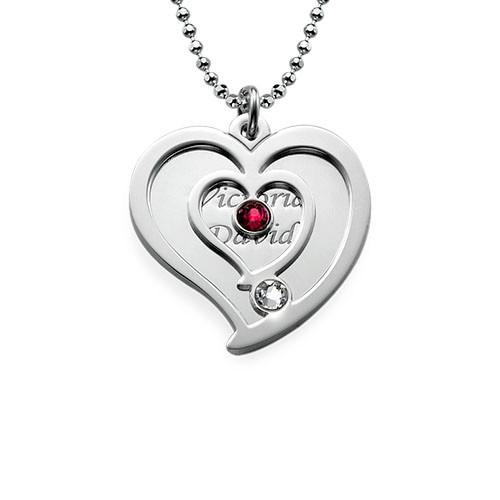 Personligt parhalsband med hjärta - 1