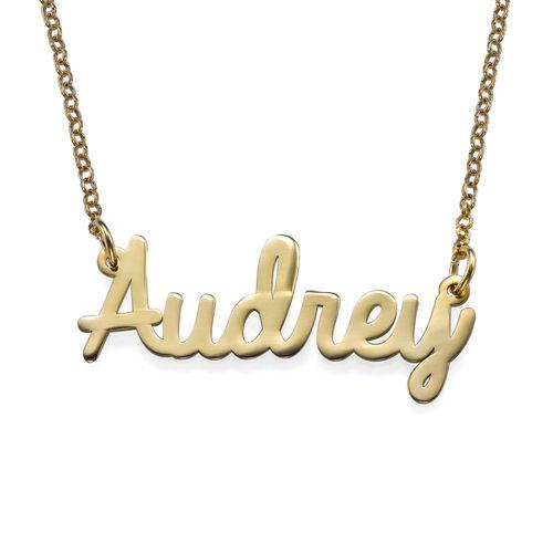 Personligt smycke - 18k Guldpläterat namnhalsband