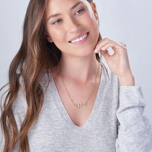 Personligt smycke - 18k Guldpläterat namnhalsband - 1