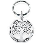 Personligt tillverkad nyckelring med familjeträd i Sterling silver