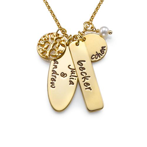 Personligt Familjeträds Halsband 18k guldplätering