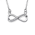 Silver Infinity Halsband med Cubic Zirconia