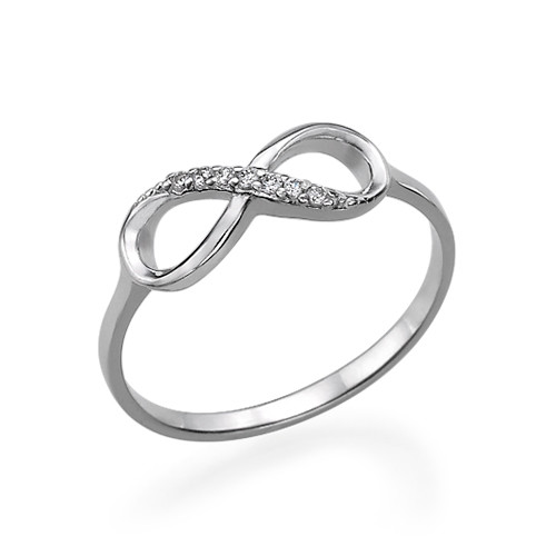 Silver Infinity Ring med Cubic Zirconia