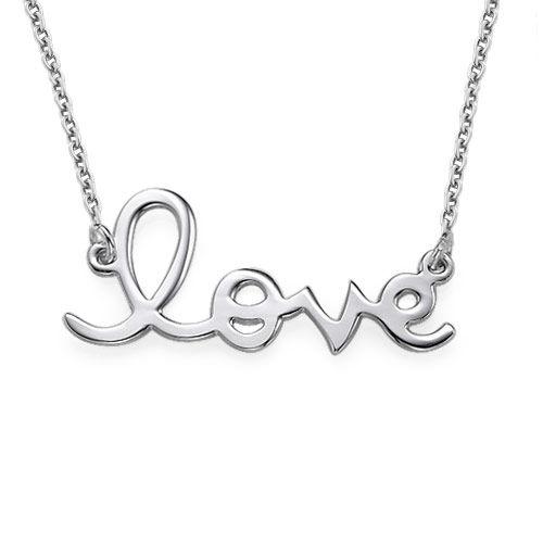 Silver Love Halsband