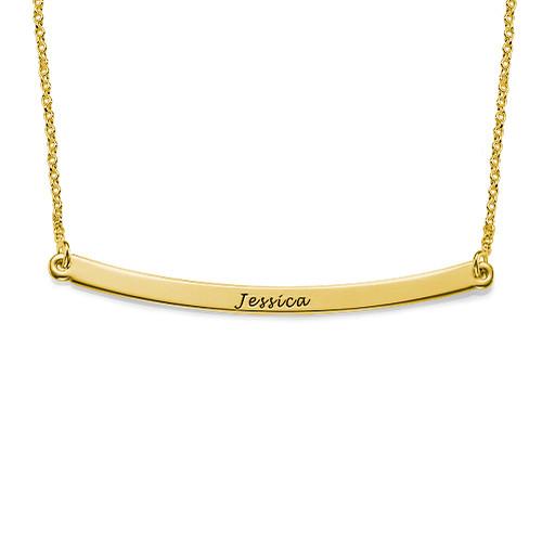 Horisontellt Stav Halsband i 18K Guldpläterat Sterling Silver