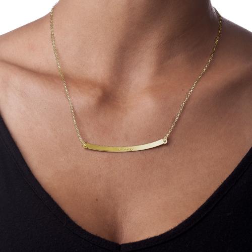 Horisontellt Stav Halsband i 18K Guldpläterat Sterling Silver - 1