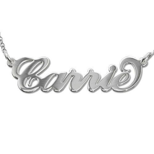 "Sterling Silver ""Carrie"" Modell Namnhalsband"