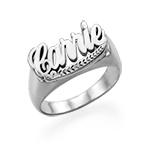 Sterling Silver Namn Ring