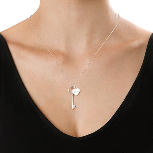 Sterling Silver halsband med nyckel och berlock - 1