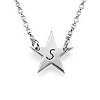 Stjärn Halsband med Initial