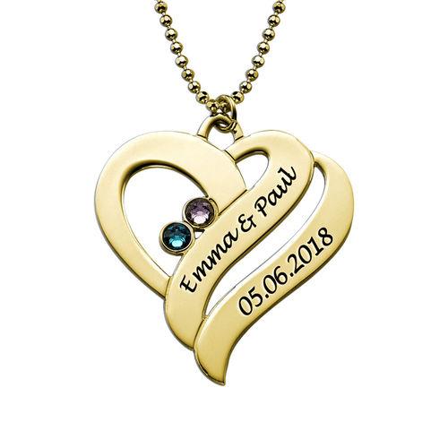Två hjärtan för evigt - månadsstens halsband - 1